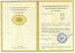 Аттестат КАД Козловой